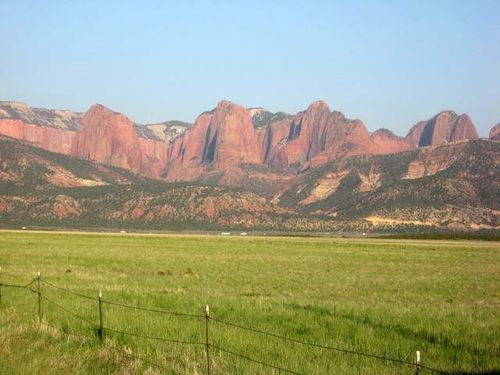Kolob Canyon from New Harmony