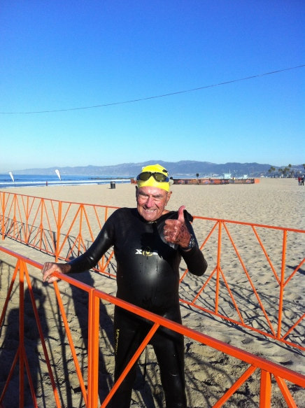 Bill thumbs up at Venice Pier
